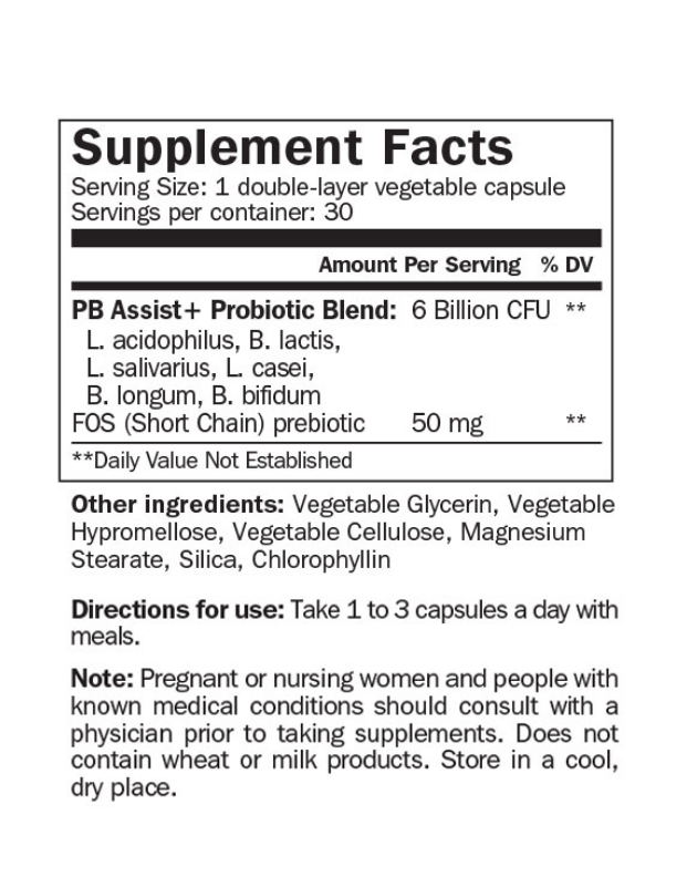 PB Assist®+  Probiotic Defense Formula, 30 kapsulas
