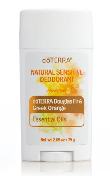 Dezodorants ar doTerra DouglasFir un GreekOrange ēteriskajām eļļām jutīgai ādai, 75g