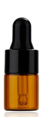 Ēterisko eļļu stikla pudelīte ar pipeti, 2ml